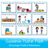 Classroom Guidelines Posters   6 Posters Printable In A3 and A4