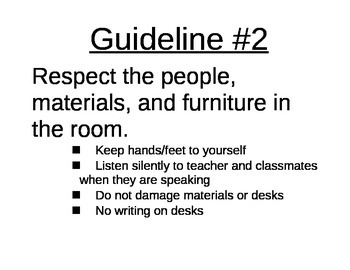 Classroom Guidelines Printables