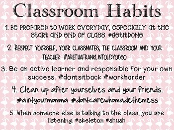 Classroom Habits Poster