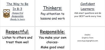Classroom Habits and Behavior Posters {EDITABLE}
