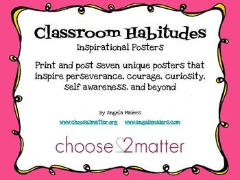 Classroom Habitudes - Inspirational Posters
