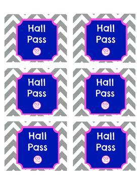 Classroom Hall Passes