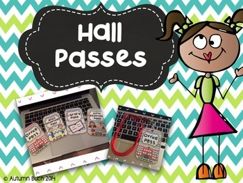 Classroom Hall Passes **Chevron Themed**