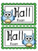 Classroom Hall Passes ~ Owl Theme ~ Set of 7 Passes