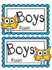 Classroom Hall Passes ~ Owl Theme ~ Set of 7 Passes