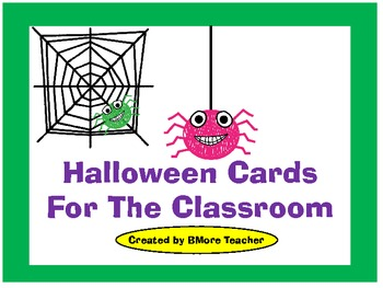 Classroom Halloween Cards