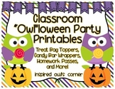 Classroom Halloween Party Printables {Owl Themed}