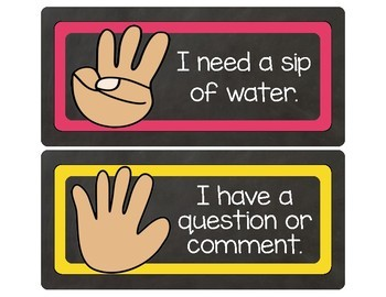 Classroom Management: Hand Signals **My students love these!!**