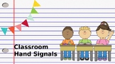 Classroom Hand Signals for Class Management {Editable}