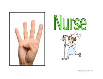 Classroom Hand Signals/ Bathroom/Nurse/Office Pass