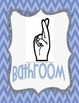 Classroom Hand Signals (Chevron Themed)