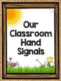 Classroom Hand Signals (Classroom Management) Burlap