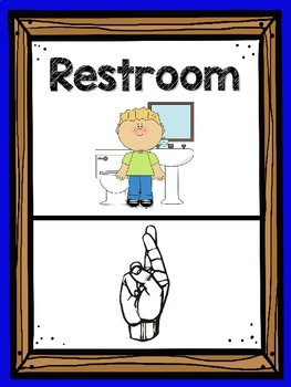 Classroom Hand Signals (Classroom Management) Primary Colors