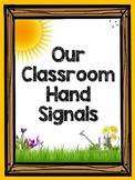 Classroom Hand Signals (Classroom Management) Primary Colors