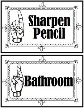 Classroom Management: Hand Signals Pack