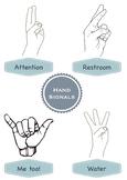 Classroom Hand Signals Poster