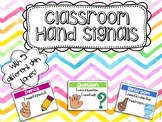 Classroom Hand Signals with 5 Different Skin Tones