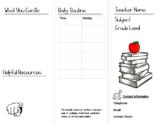 BACK TO SCHOOL Classroom Handbook Brochure Template-ALL SUBJECTS-Editable