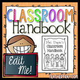 EDITABLE Classroom Procedures and Routines Handbook for Back to School