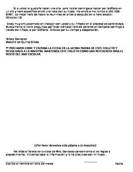 Classroom Handbook - Spanish