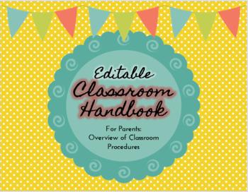 Classroom Handbook for Parents- Back to School