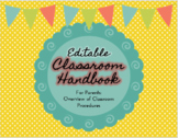 Classroom Handbook for Parents- Back to School