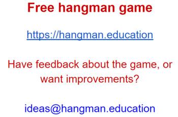 Classroom Hangman App