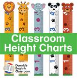 Classroom Height Chart - Animals