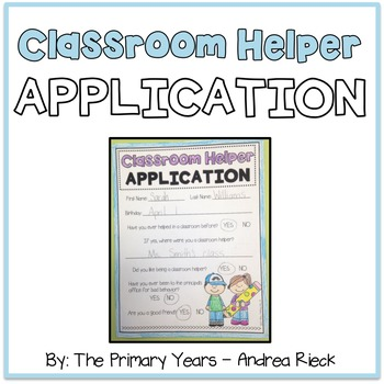 Classroom Helper Application