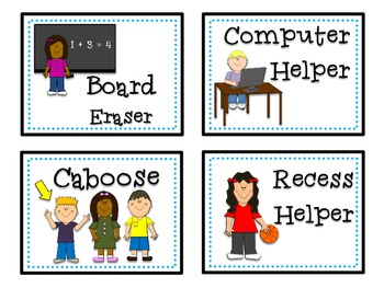 Classroom Helper Cards
