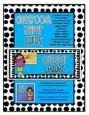 Classroom Helper Cards (Blue/Black Dots)