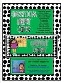 Classroom Helper Cards (Green/Black Dots)