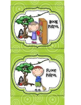 Classroom Helper Chart- Jungle/Rainforest Themed