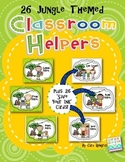 Classroom Helper Chart- Jungle/Rainforest Themed