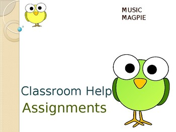Classroom Helper/Chores (Bird theme)