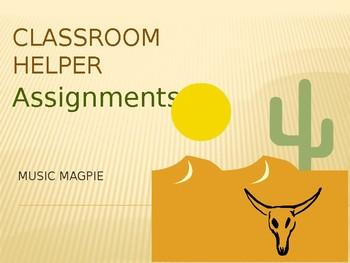 Classroom Helper/Chores (DESERT theme)