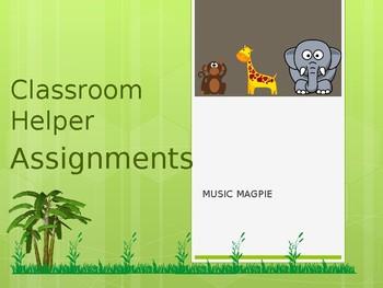 Classroom Helper/Chores (jungle theme)