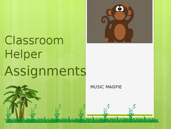 Classroom Helper/Chores (monkey theme)