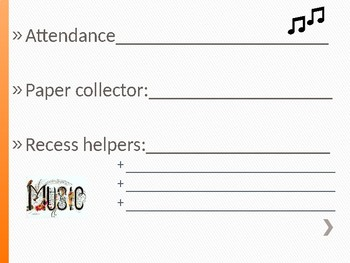 Classroom Helper/Chores (music theme)