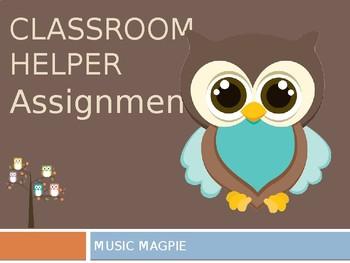 Classroom Helper/Chores (owl theme)