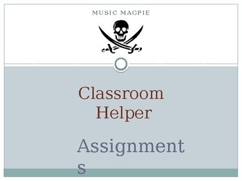 Classroom Helper/Chores (pirate theme)