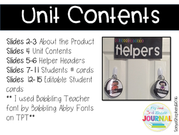 Classroom Helper Display Rings