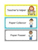 22 Classroom Helper Job Cards
