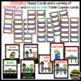 Classroom Helper Jobs (EDITABLE) ~ Chevron Rainbow Print with black background
