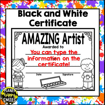 Classroom Helper Jobs (EDITABLE) Art Theme