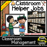 Classroom Helper Jobs (EDITABLE) Camping Theme