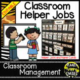 Classroom Helper Jobs (EDITABLE) ~ Jungle Print Theme (no animals)