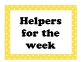 Classroom Helper Jobs Polka Dot Theme