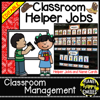 Classroom Helper Jobs ~ Western/Cowboy Theme