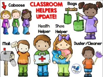 classroom helper kids jobs clip art 21 jobs by whimsy workshop rh teacherspayteachers com classroom helper clipart Classroom Job Helper Clip Art